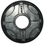 1.25 кг черный олимпийский обрезиненный диск ALEX P-RO-1.25K