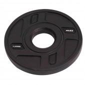 1.25 кг черный полиуретановый диск ALEX без отверстий P-TPU-1.25K