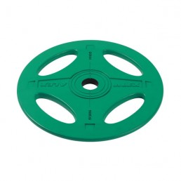 10 кг зеленый олимпийский обрезиненный диск ALEX 4 отверстия Aerofit P-RO-10K-DSA