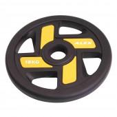 15 кг черный полиуретановый диск ALEX 4 отверстия P-TPU-15K