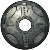 2.5 кг черный олимпийский обрезиненный диск ALEX P-RO-2.5K