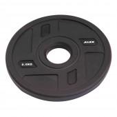 2.5 кг черный полиуретановый диск ALEX без отверстий P-TPU-2.5K