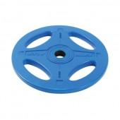 20 кг синий олимпийский обрезиненный диск ALEX 4 отверстия P-RO-20K-DSA