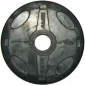 5 кг черный олимпийский обрезиненный диск ALEX P-RO-5K