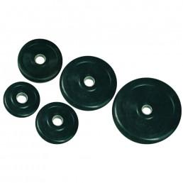 Черный обрезиненный диск 26 мм 10 кг Aerofit DB6029-26-10