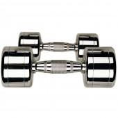 10 пар хромированных гантелей 1-10 кг DB3002-1/10
