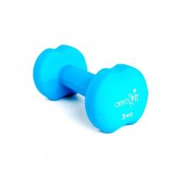 Голубая гантель в неопреновой оболочке 3 кг Aerofit DB-ND-3K