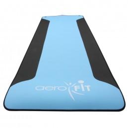 Синий, черный коврик для йоги 183x60x0.5 см Aerofit FT-YGM-POE-5-AF