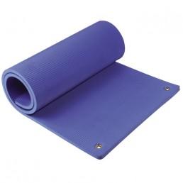 Синий гимнастический эко-мат с отверстиями для хранения 180x60x1.2 см Aerofit FT-EM-F180-12-VL