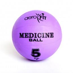 Фиолетовый медицинский мяч 5 кг Aerofit FT-MB-5K-V