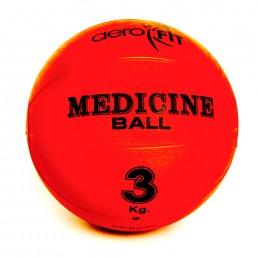 Красный медицинский мяч 3 кг Aerofit FT-MB-3K-V