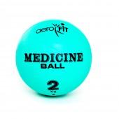 Зеленый медицинский мяч 2 кг FT-MB-2K-V