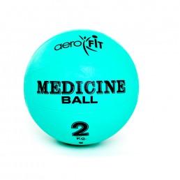 Зеленый медицинский мяч 2 кг Aerofit FT-MB-2K-V
