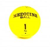 Желтый медицинский мяч 1 кг FT-MB-1K-V