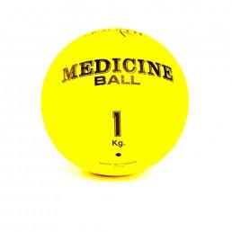 Желтый медицинский мяч 1 кг Aerofit FT-MB-1K-V