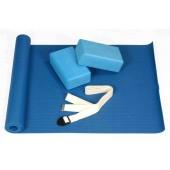 Набор для йоги: 2 блока, 1 ремень, 1 коврик 3.5 мм FT-YGS-001-V