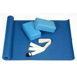 Набор для йоги: 2 блока, 1 ремень, 1 коврик 3.5 мм Aerofit FT-YGS-001-V