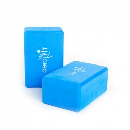 Синий блок для йоги 23x15x10 см Aerofit FT-YGK-469