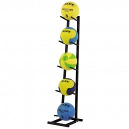 Черная стойка для 5 медицинских мячей Aerofit RK-MDB-5