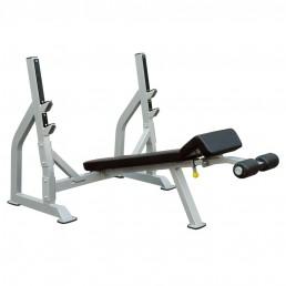 Олимпийская скамья с отрицательным наклоном для жима со стойками Aerofit IFODB