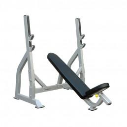 Олимпийская скамья с положительным наклоном для жима со стойками Aerofit IFOIB