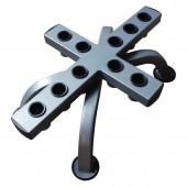 Вертикальный держатель для олимпийских грифов, 10 шт, платина RK-OB-10