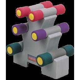 Набор неопреновых гантелей на подставке Oxygen P800-12LB 5.44 кг
