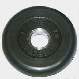 Диск Oxygen обрезиненный черный 1,25 кг