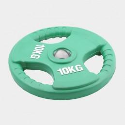 Олимпийский диск Oxygen евро-классик с тройным хватом 10 кг