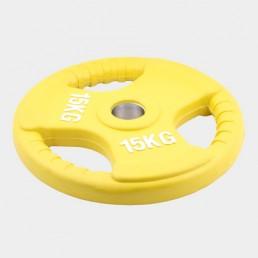 Олимпийский диск Oxygen евро-классик с тройным хватом 15 кг
